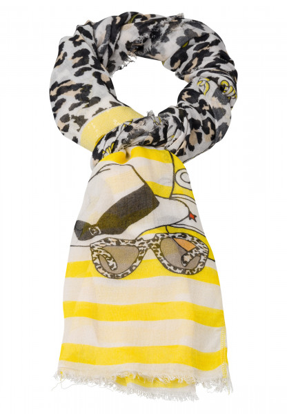 Rectangular cloth in leopard chain printing