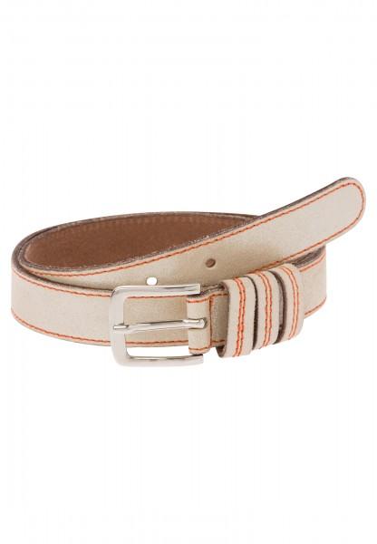 Belt in metallic look