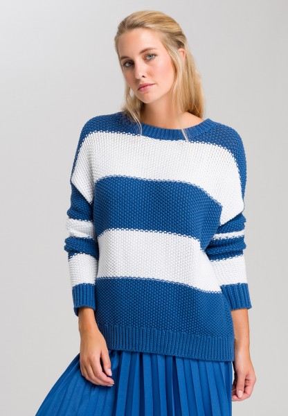 Sweaters with block stripes