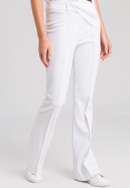 Zip-fly trousers elasticated jersey