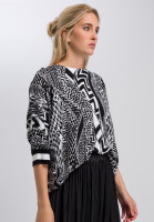 Boxy sweater in ethnic print