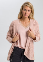 Cardigan coarse knit