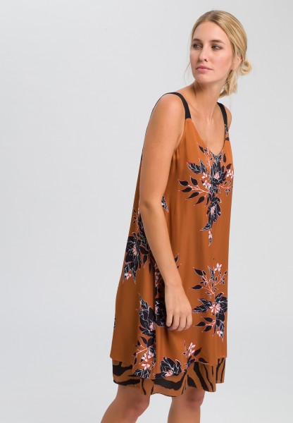 A-line dress with floral print