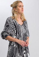 Swallow Blouse with ethno-print