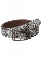Belt with leopard print