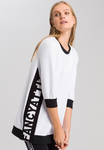 Sweatshirt with lateral lettering