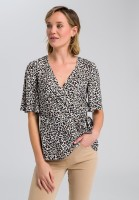 Wrap blouse in leopard design