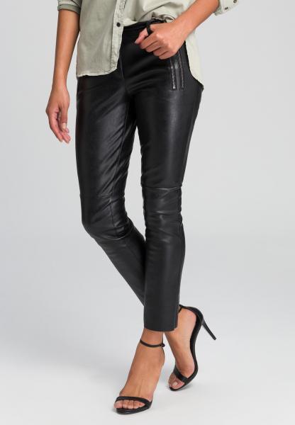 Imitation leather pants biker style