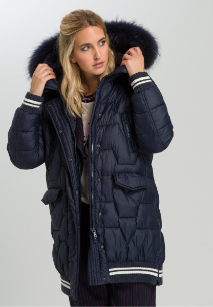 Outdoor coat With striped details