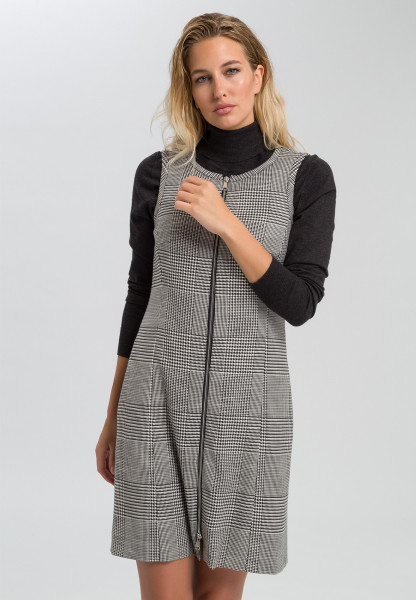 Dress in glencheck pattern