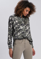 Blouse with abstract camouflage print