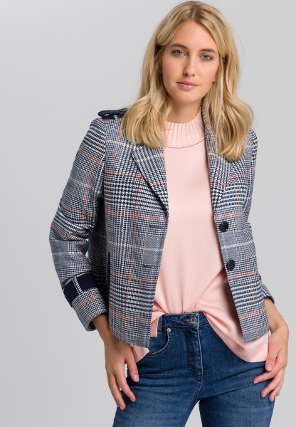 Blazer Jacket with chequered pattern