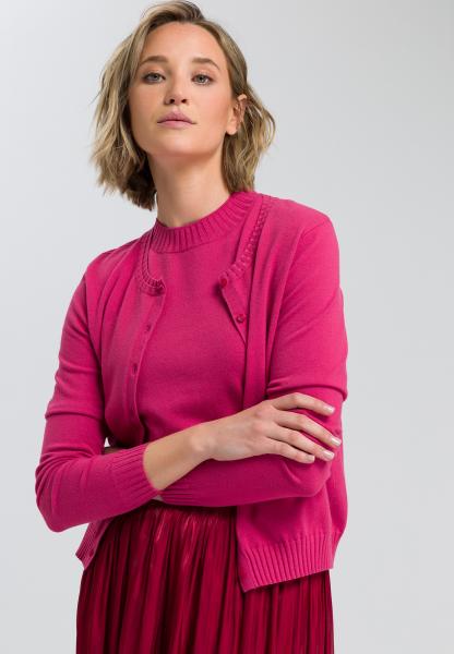 Basic cardigan with round neckline