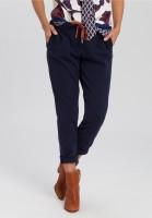 Pants with diagonal pockets