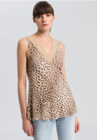 Blouse top with Leo-print