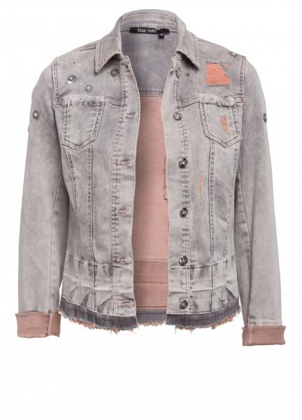 Jeansjacke mit Schmuckdetails