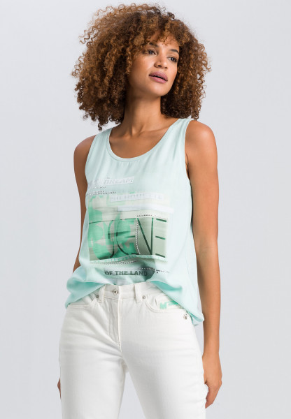 Top with neon front print