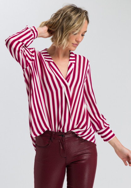 Blouse with stripes printing
