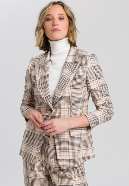 Blazer with chequered pattern