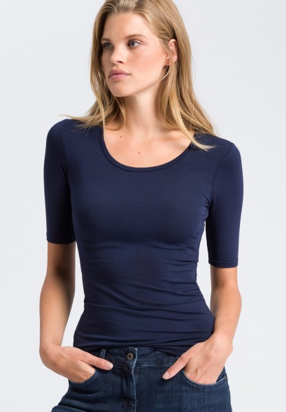 T-shirt with a round neckline