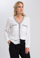 Blouse with striped bands