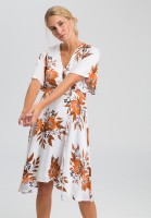 Dress with flower all-overprint
