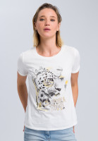 T-shirt with leopard photo print