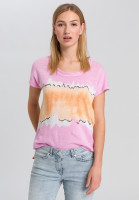 T-shirt with colour-blocking-stripes