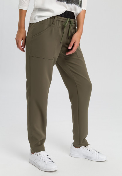 Pants with writing tape