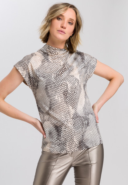 Jerseytop with snake print