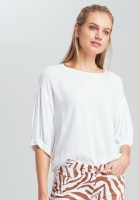 Blouse shirt with crimped sleeve