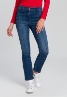 Jeans with tucks