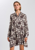 Blouse dress with paisley print