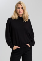 Boxy sweater with turtleneck