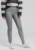 Skinny jeans with metallic effect