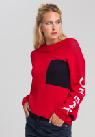 Oversized sweater With font details