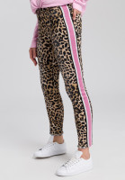 Pants with leopard print