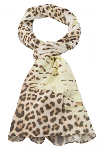Rectangular scarf with leo-pattern-mix