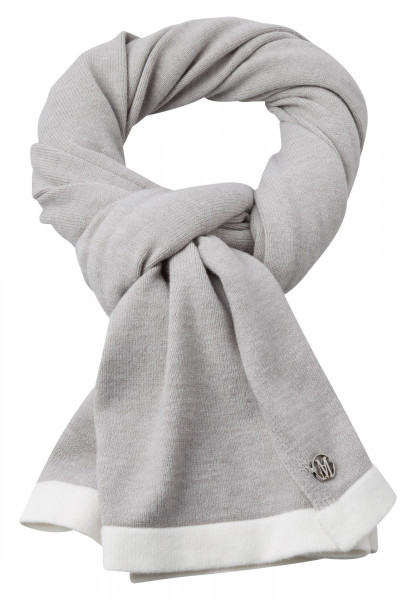 Scarf with logo badge