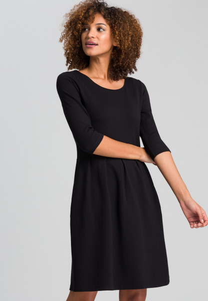 Dress from structured jersey