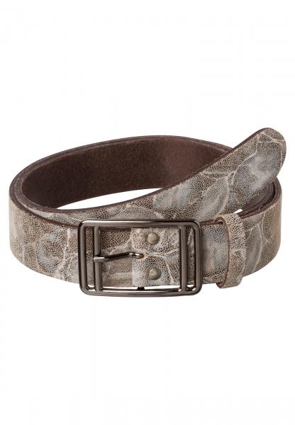Belt im marmoriertem Animalprint