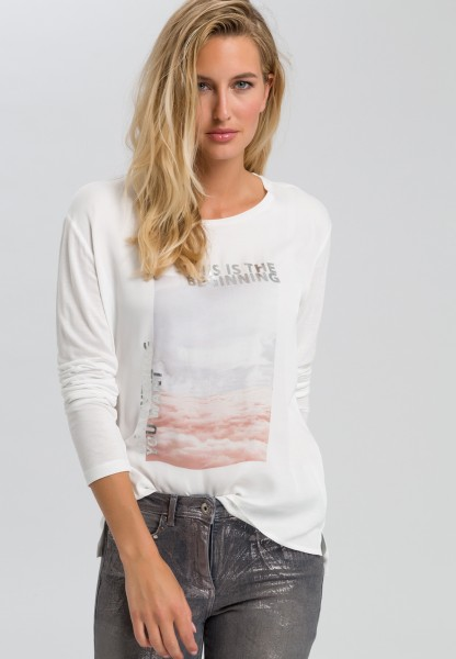 Shirt with cloud print