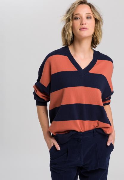 Block striped sweaters cashmere
