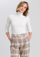 Basic knitted sweater with roll collar