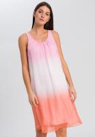 Layered dress with Batik print
