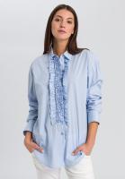 Shirt blouse with ruffles