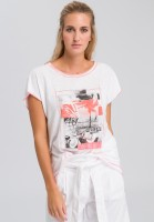 T-shirt with neon photo print