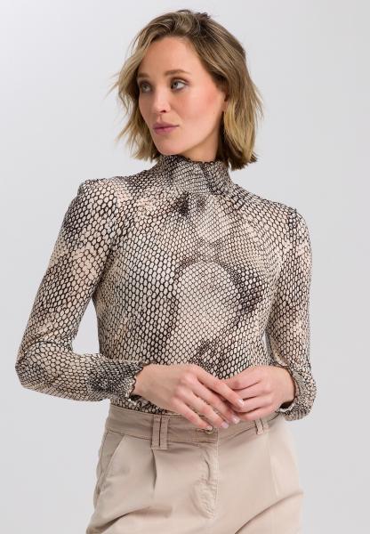 Long sleeve shirt with snake print