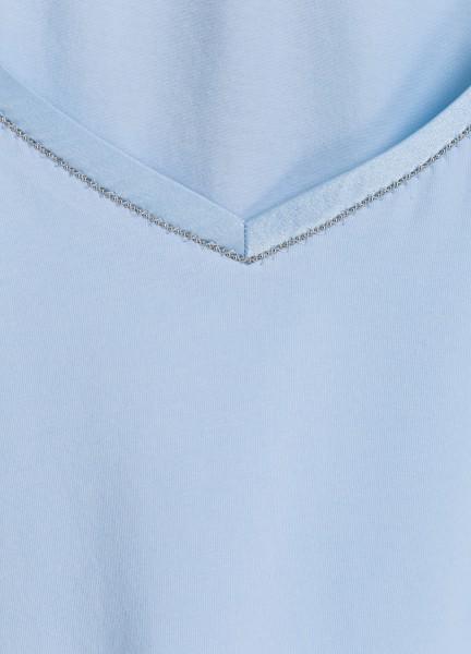 T-shirt with silk edge