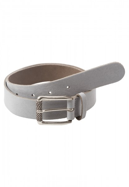 Belt with decorative metal buckle